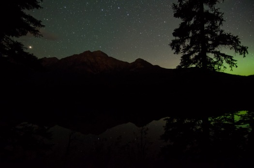 Stargazing in Jasper, with possible hints of the northern lights, which I couldn't see myself.