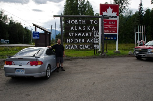 At the entrance to the Stewart-Cassiar Highway!