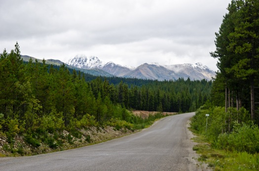Fresh snow on the mountains in August!