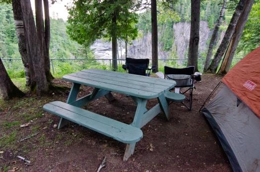 The campsite at Grand Falls, NB