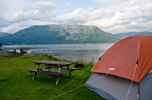 Our wonderful site at the Lomond Campground in Gros Morne.