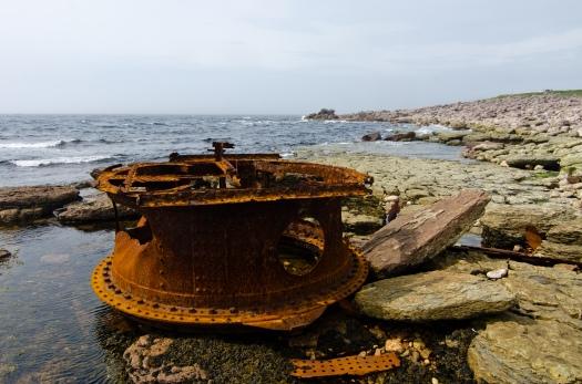Leftover shipwreck